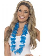 Blue Hawaiian Flower Lei